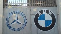 Mercedes-Benz and BMW logos