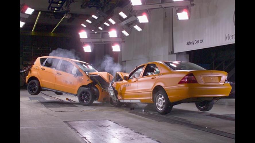 Mercedes A-Klasse: Sicherheit trotz geringer Abmessungen