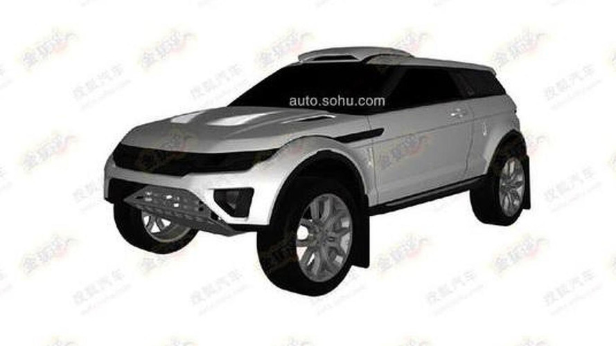 Mysterious rally-like Range Rover Evoque patent pics hit the web