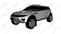 Rally-spec Range Rover Evoque patent photo