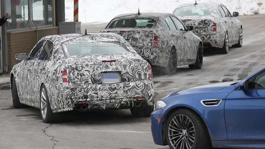 Cadillac CTS-V spied testing near arch rival BMW M5