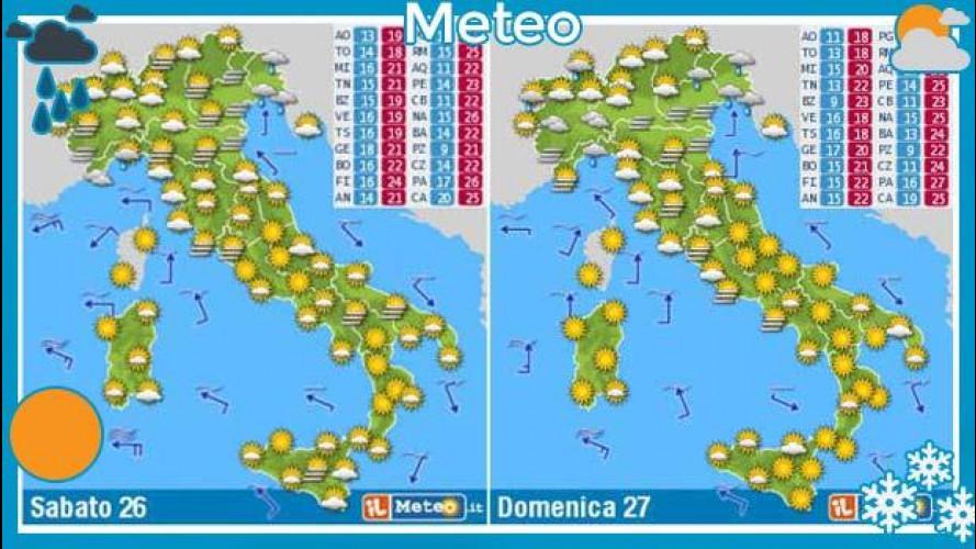 Meteo del fine settimana 26 e 27 ottobre: sole e caldo