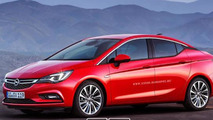 Opel Astra K Sedan rendered