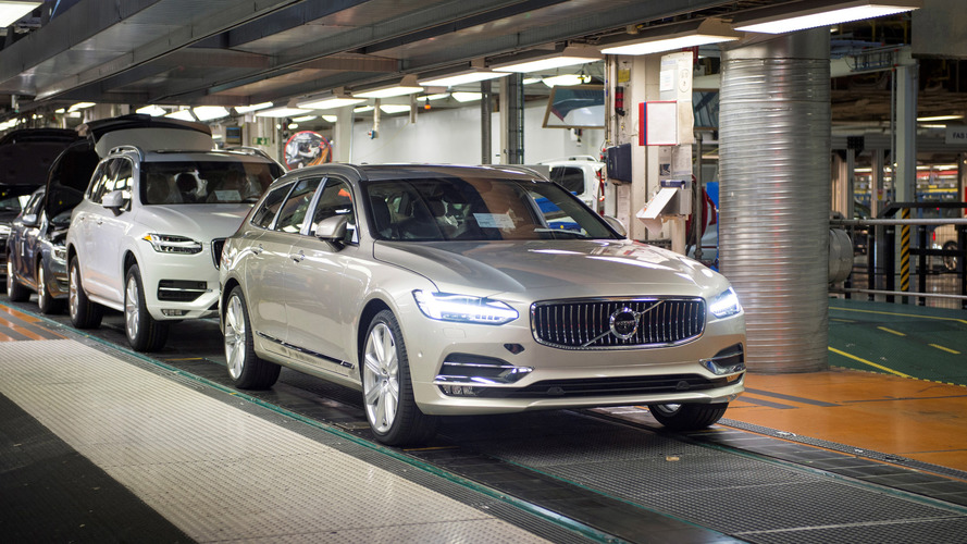First Volvo V90 station wagon rolls off production line in Sweden