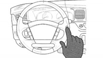 Hyundai patent for touch-sensitive controls on steering wheel