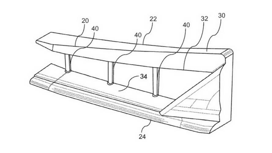 Honda - NSX'li hava barajı patenti