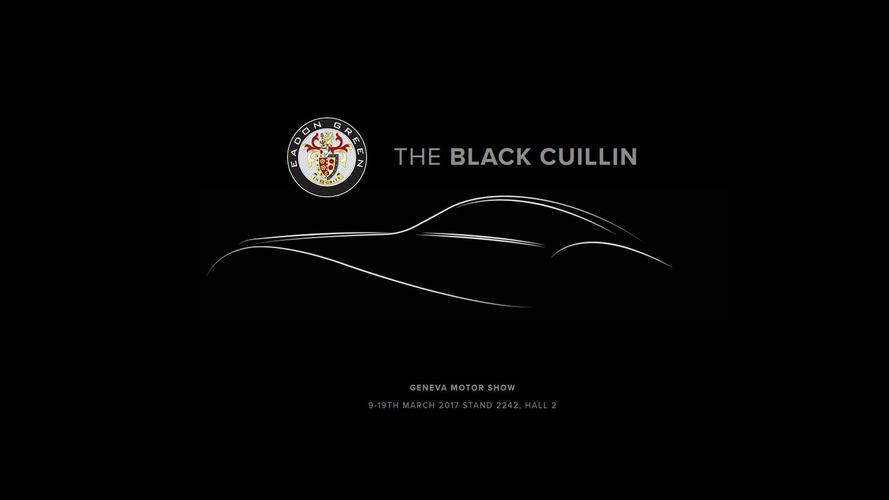 Klasik görünümlü Black Cuillin Cenevre Otomobil Fuarı için hazır