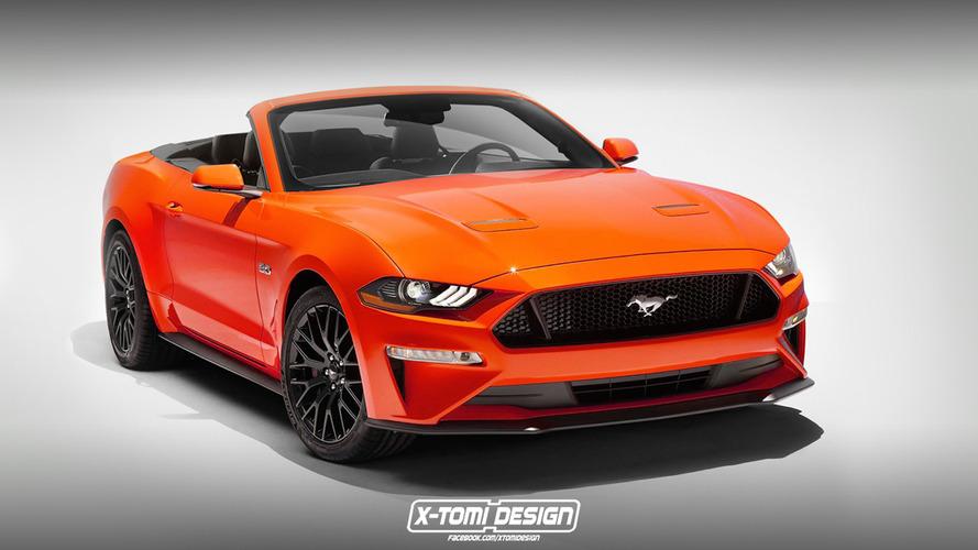 2018 Mustang Convertible'a tasarım çalışması