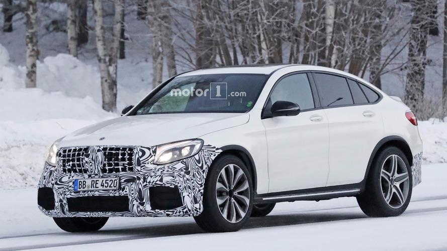Mercedes-AMG GLC 63 Coupe spy photos
