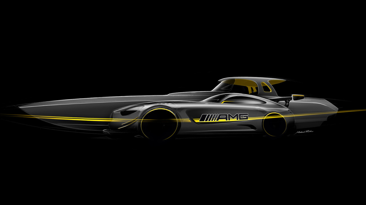 Mercedes-AMG GT3 inspired boat by Cigarette Racing