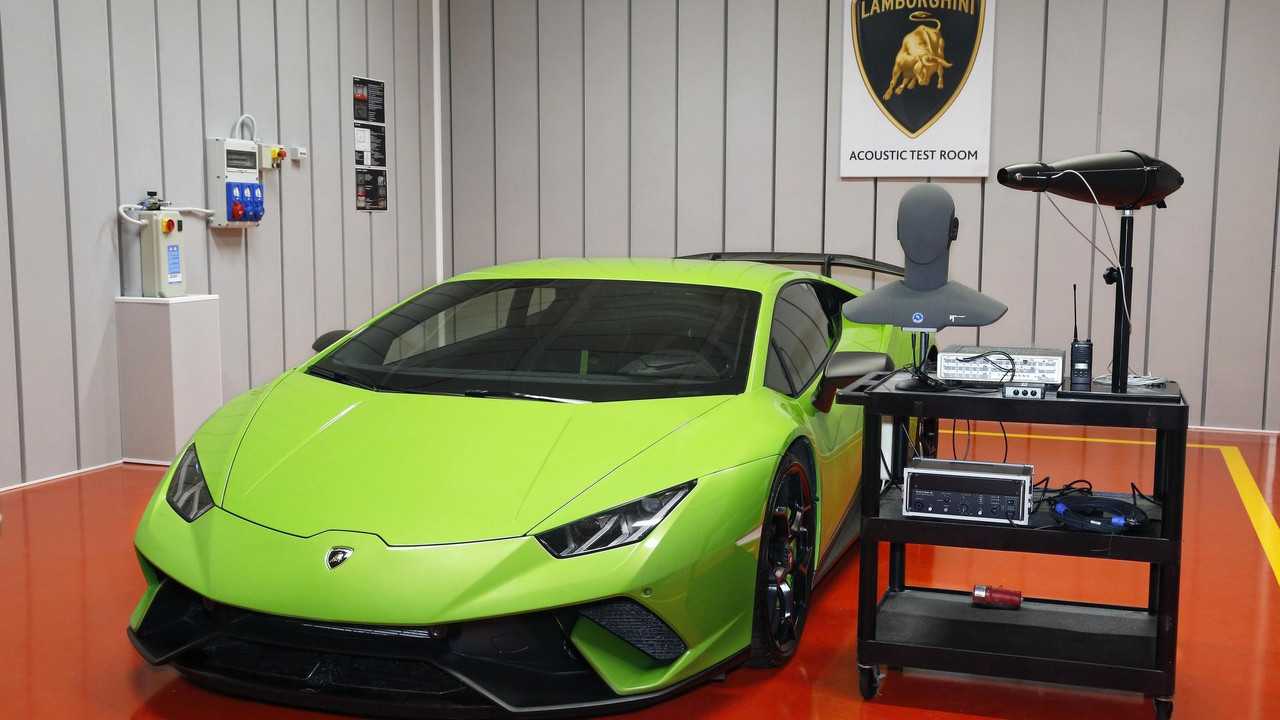 Lamborghini acoustic test room