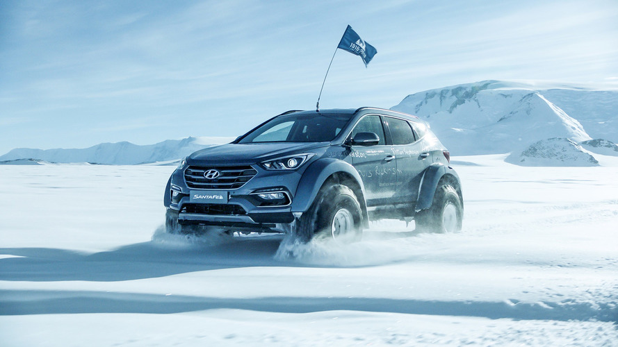 Hyundai Santa Fe Minimally Modified For Antarctic Expedition