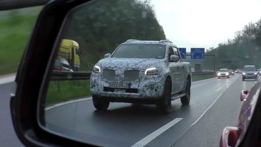 Mercedes X-Class Pickup Prototype Chased In Germany