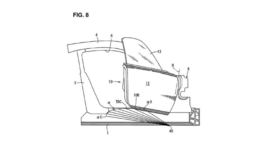 Mazda door patent