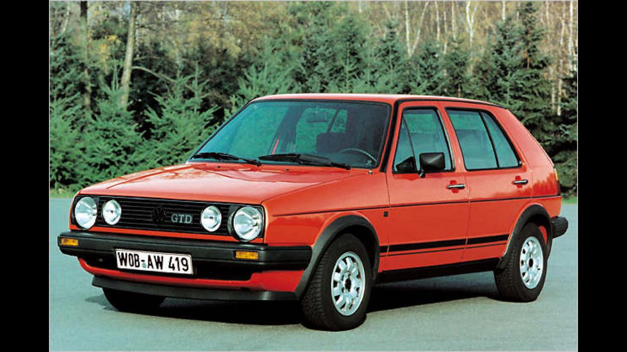 VW Golf II GTD, Bauzeit: 1984 bis 1991
