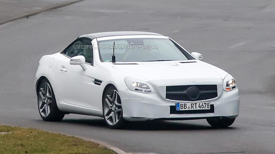 2016 Mercedes SLC spied, will replace the SLK