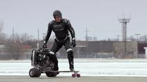 Ford straps EcoBoost engine to skateboard, Dolph Lundgren demonstrates