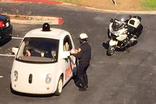 Google Car Pulled Over For Driving Too Darn Slow