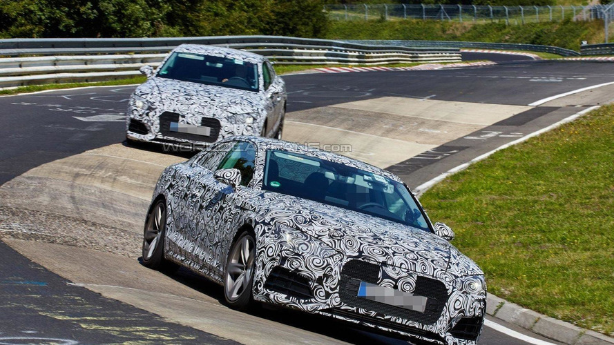 2017 Audi A5 Coupes caught on the Nürburgring