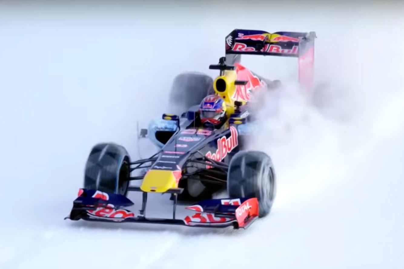 Watch a Red Bull Formula 1 Car Race Up Ski Slopes