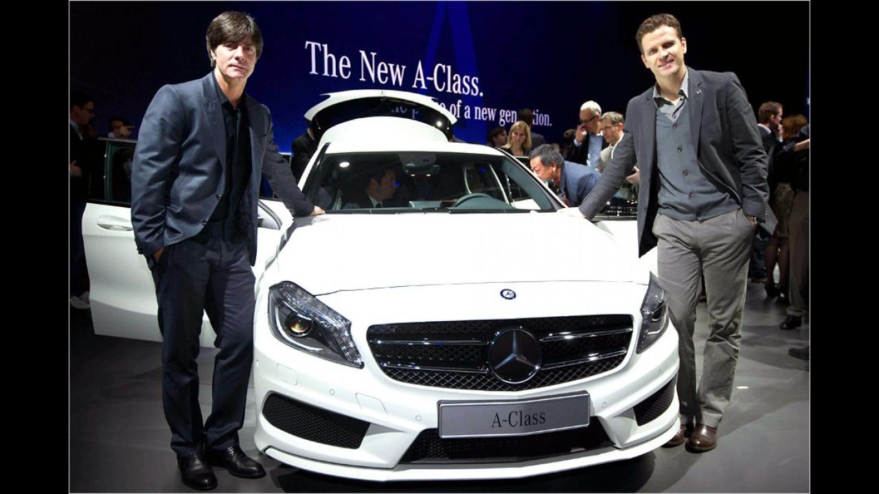 Joachim Löw und Oliver Bierhoff: Mercedes A-Klasse