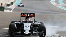 Nico Hulkenberg, Sahara Force India F1 VJM08 locks up under braking