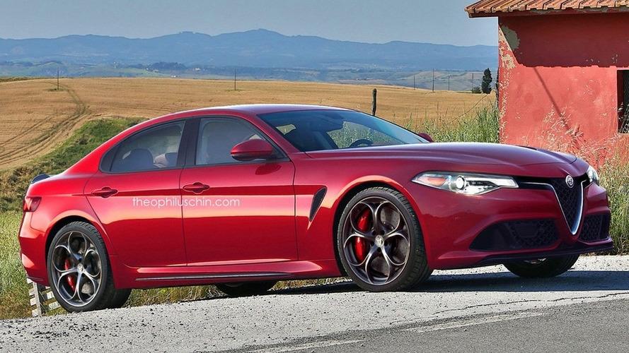 Alfa Romeo Giorgio Quadrifoglio render shows great potential for hypothetical M5 rival