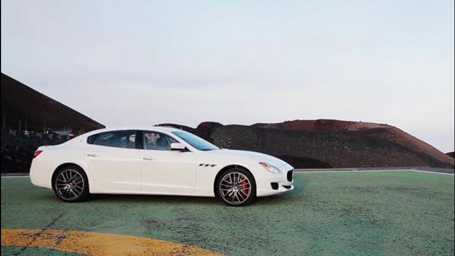 Guidare sull'Etna… una Maserati Quattroporte