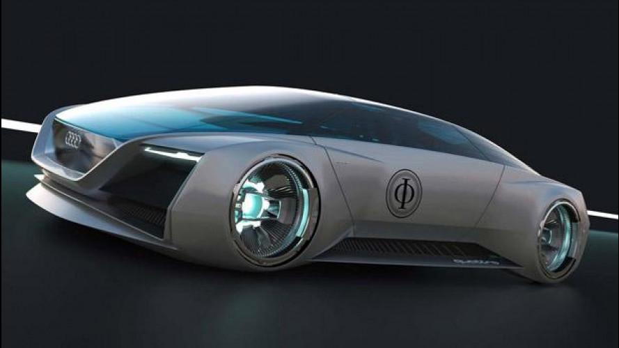 Audi fleet shuttle quattro, prototipo virtuale da fantascienza