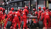 Fernando Alonso (ESP) Scuderia Ferrari during pitstop, 06.07.2014, British Grand Prix, Silverstone / XPB
