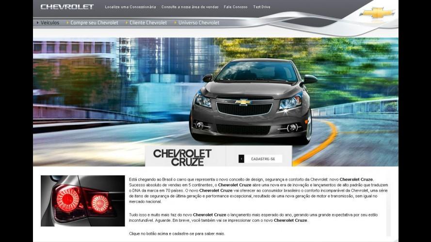 Chevrolet começa a divulgar Cruze em seu site no Brasil - Lançamento acontece em setembro