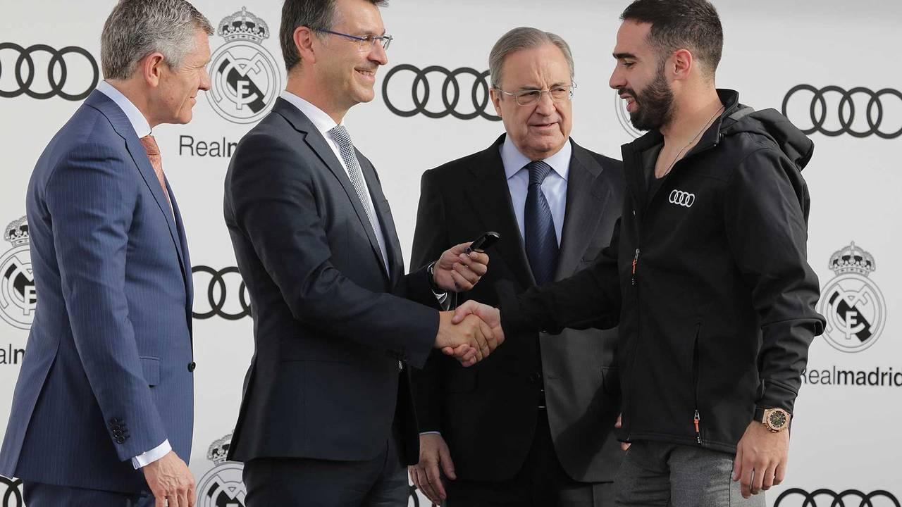 Les joueurs du Real de Madrid reçoivent leurs nouvelles Audi