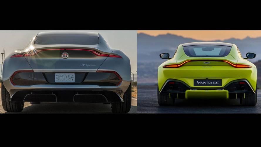 Yeni Aston Martin Vantage'in arkası Fisker eMotion'a mı benziyor?