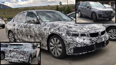 2019 BMW 3 Series, X5, And X7 Caught On A Parking Lot