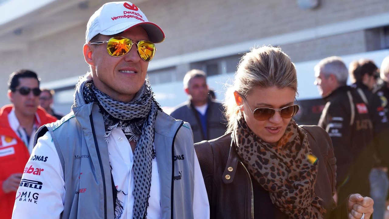 Michael Schumacher with wife Corinna Schumacher 18.11.2012 United States Grand Prix