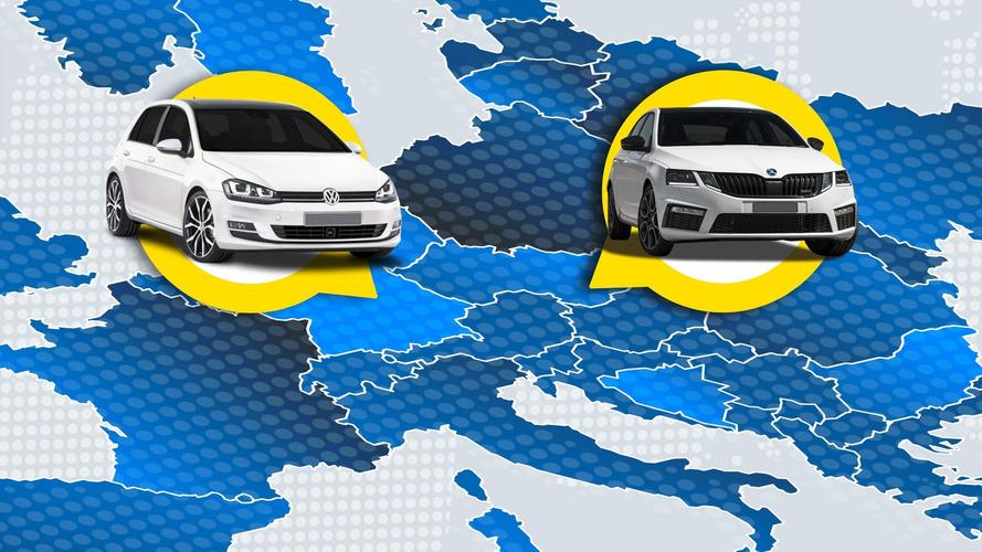 Le auto più vendute d'Europa, paese per paese