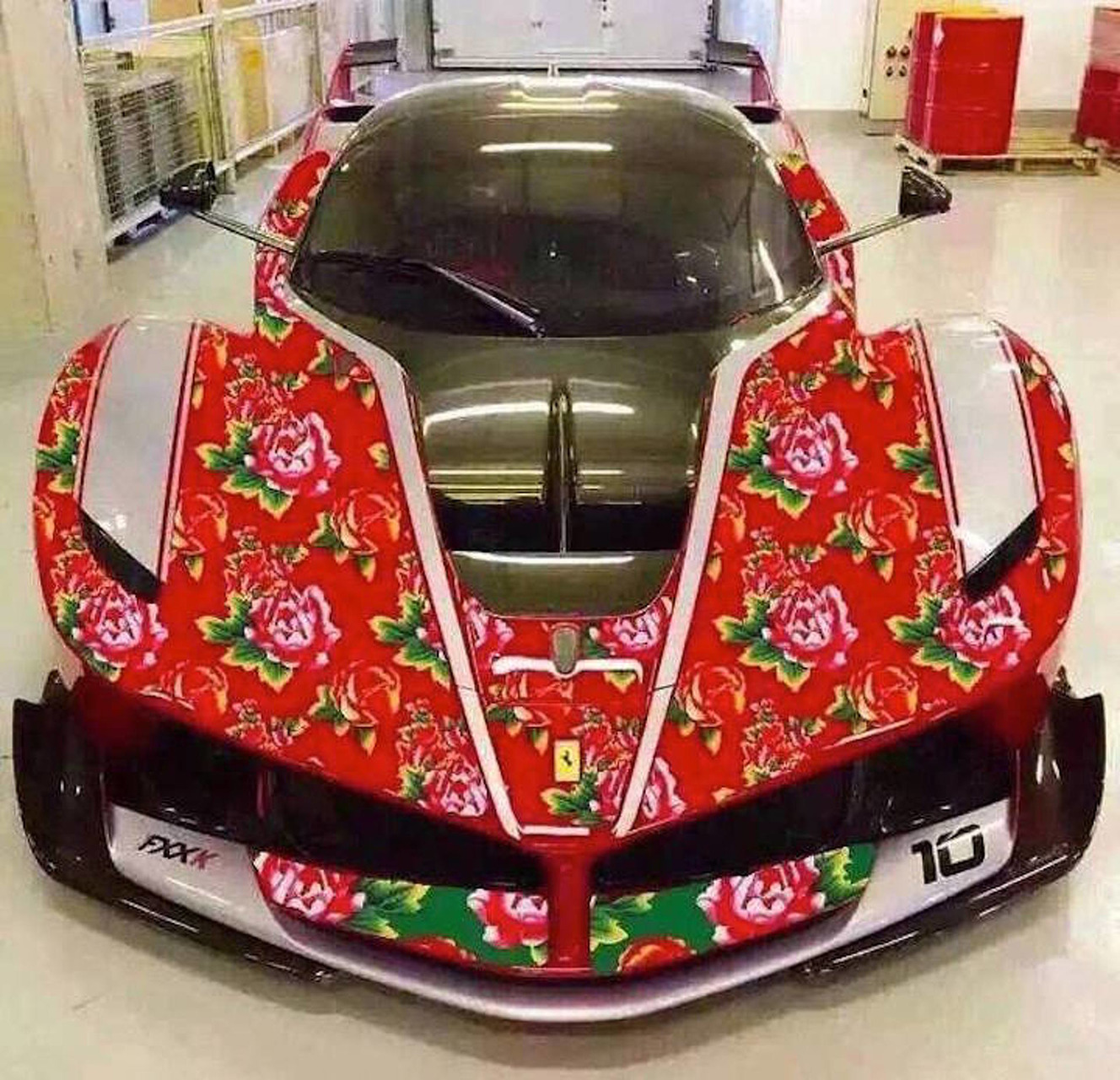 This Rose-Wrapped Ferrari FXX K is Fabulously Frightening