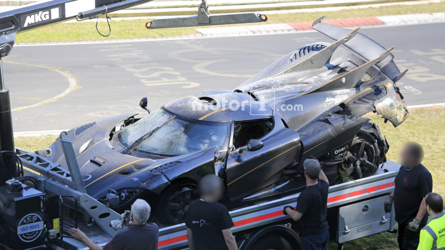 Gros crash pour une Koenigsegg One:1 au Nürburgring