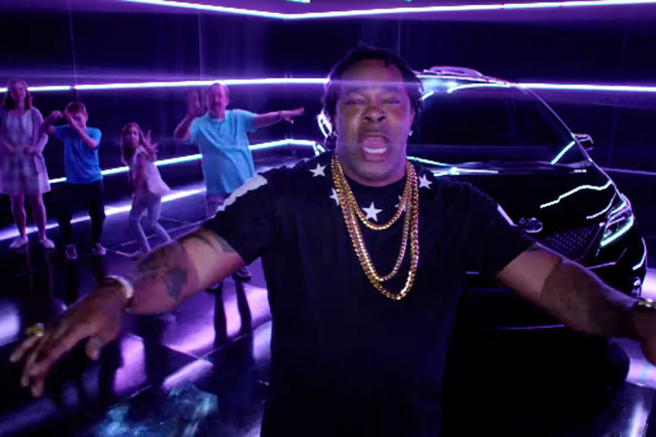 Woo-Hah! Busta Rhymes Raps in the Toyota Swagger Wagon Ad [Video]