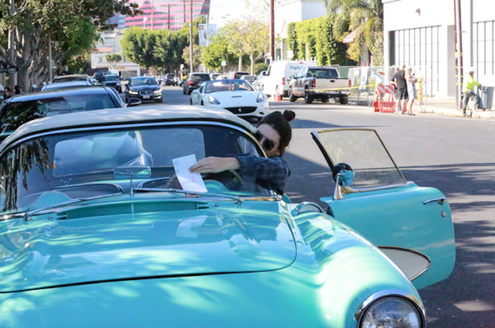 Try to Keep Up With Kendall Jenner In Her Beautiful New '57 Corvette