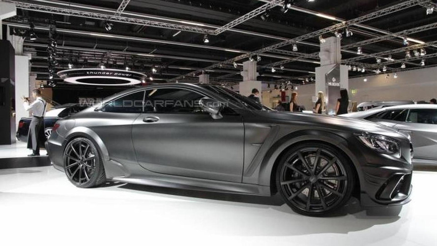 Murdered-out Mercedes-AMG S63 Coupe Black Edition by Mansory packs 1,000 PS in Frankfurt