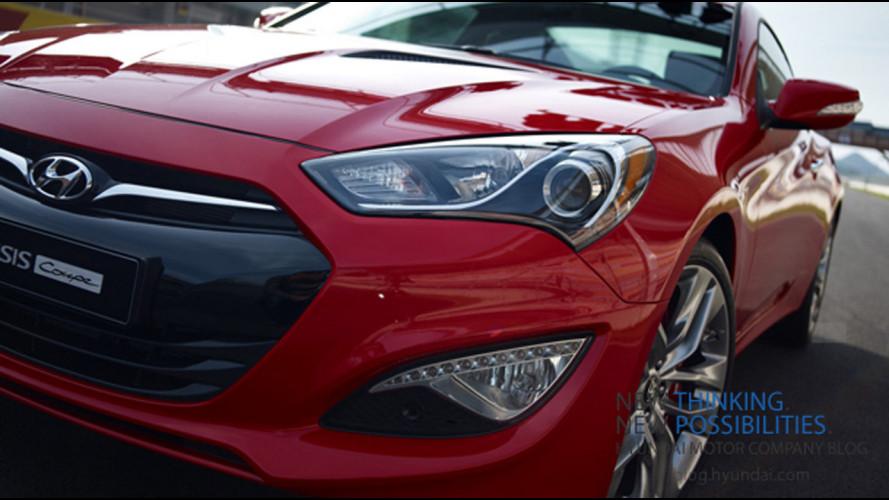 Hyundai Genesis Coupé restyling: il teaser