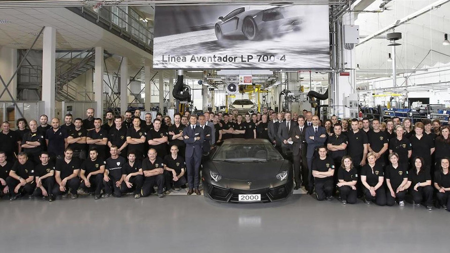 Lamborghini Aventador production reaches 2,000 units