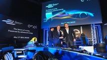 Alejandro Agag, CEO Formula E, Francesco Starace, CEO General Manager Enel Group