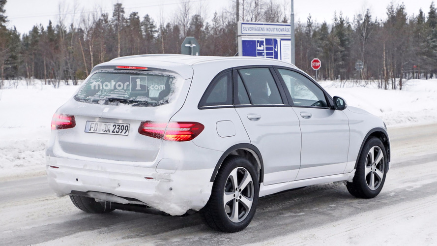 Mercedes spied using GLC body for EQ electric crossover testing