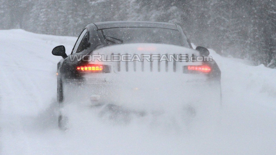 Porsche 991 Latest Winter Test Spy Photos - Rear LEDs in View