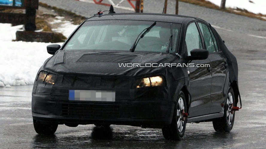 2012 VW Polo Sedan Spied - Headed for U.S.