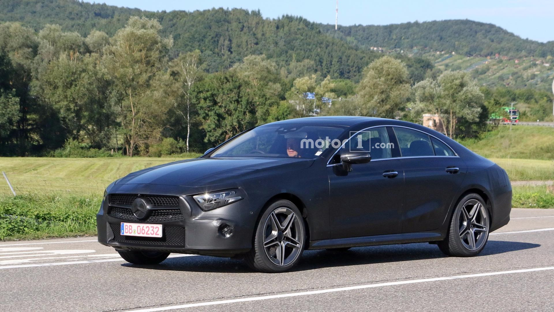 2018 mercedes cls spied with less camo than ever before. Black Bedroom Furniture Sets. Home Design Ideas