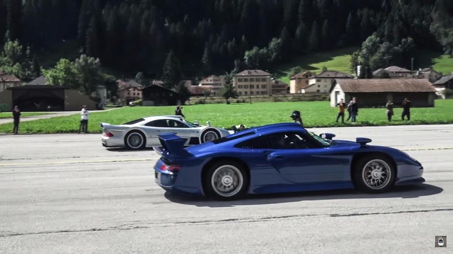 VIDÉO - Quand la Porsche GT1 affronte la Mercedes CLK GTR