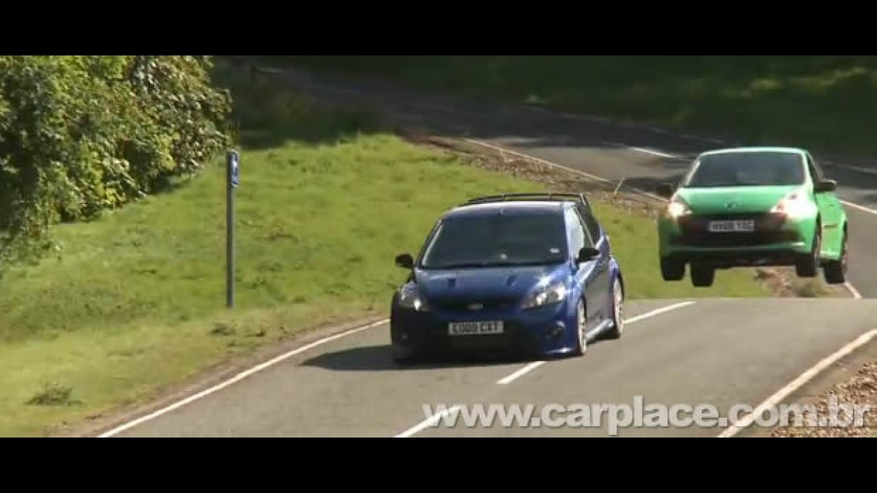 Vídeo: Confira uma volta a bordo do esportivo Renault Clio RS colado no Ford Focus RS